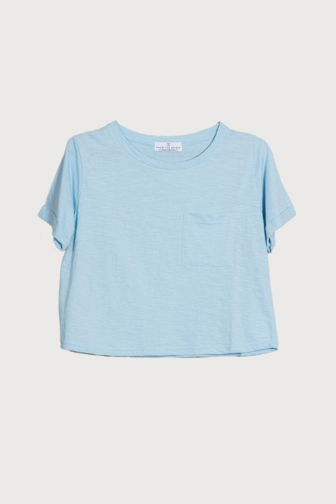 Poppy Arctic Blue Top-Know The Origin-MAMOQ