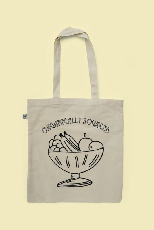 Printed Organic Cotton Tote Bag - Fruit Bowl-Goose Studios-MAMOQ