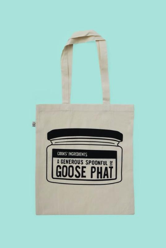 Printed Organic Cotton Tote Bag - Jar of Goose Phat-Goose Studios-MAMOQ