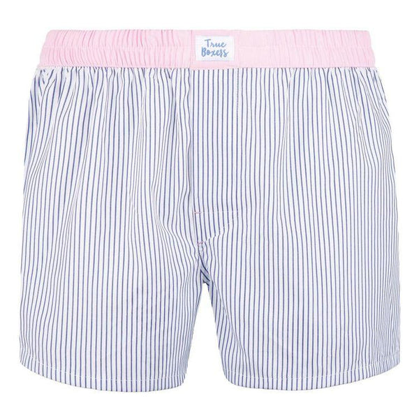 Pura Vida Blue Cotton Boxers-True Boxers-MAMOQ