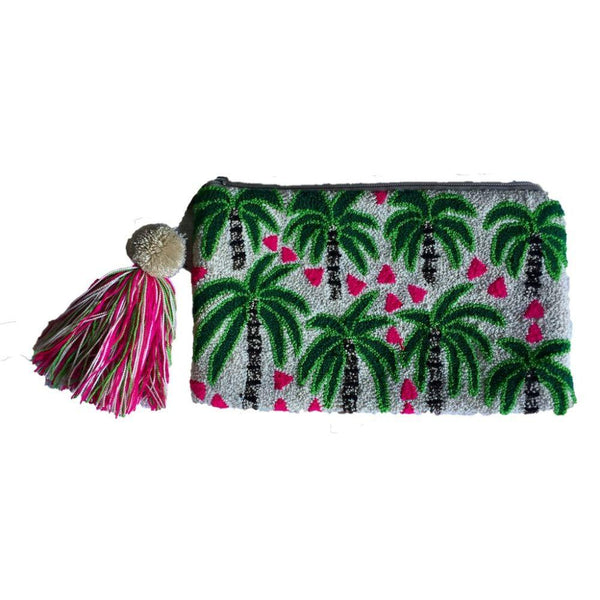Quindio Palms Cotton Wayuu Clutch Bag-Untold Treasures-MAMOQ