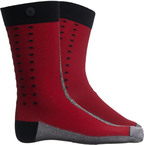 Race Roses Red Organic Cotton Socks-Race-Qnoop-MAMOQ