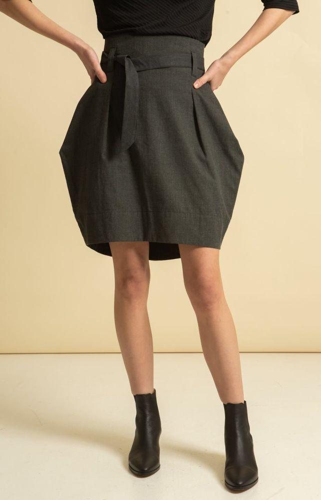 Radalla Tulip Skirt Grey-TAUKO-MAMOQ