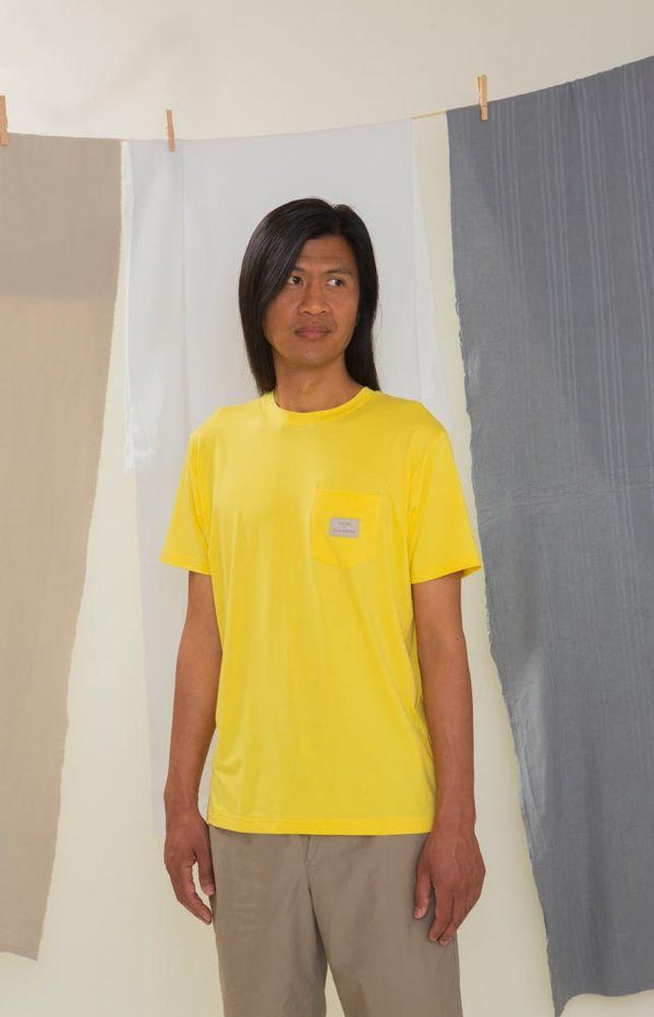 Rahkasammal Sunshine Yellow Short Sleeve T-Shirt-TAUKO-MAMOQ
