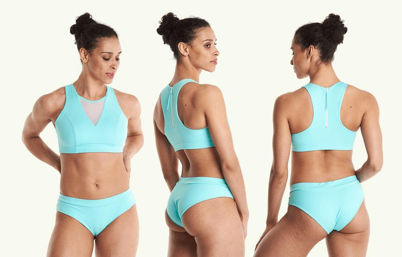 Regular Bikini Bottoms - Mint Blue-Deakin and Blue-MAMOQ
