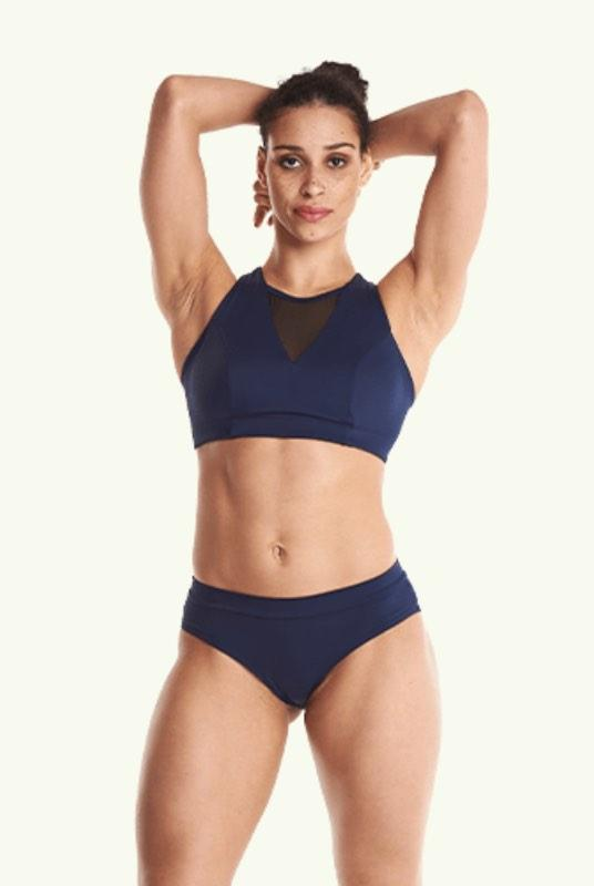 Regular Bikini Bottoms - Navy-Deakin and Blue-MAMOQ