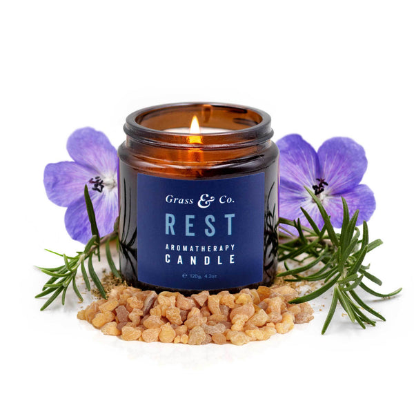 REST Aromatherapy Candle-Aromatherapy Candle-Grass & Co.-MAMOQ