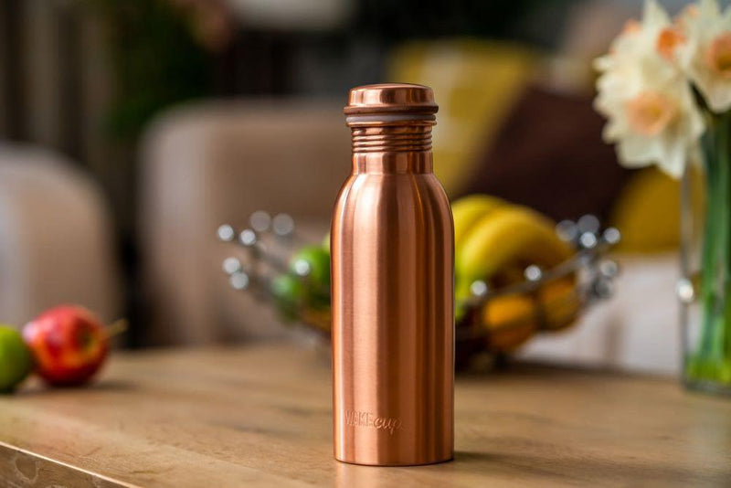 Reusable Copper Water Bottle-WAKEcup-MAMOQ