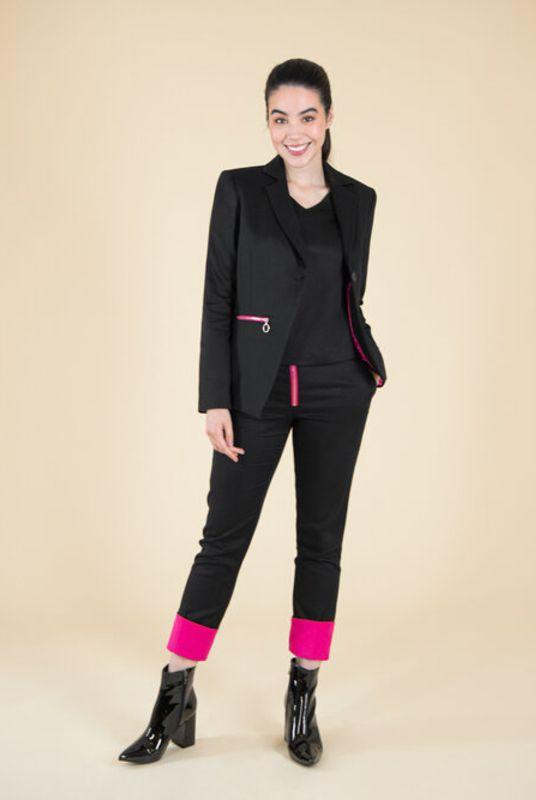 Revivify Pink Hem Trousers-blonde gone rogue-MAMOQ