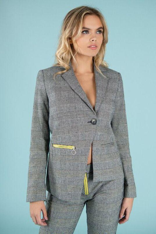Revivify Yellow Zip Blazer-blonde gone rogue-MAMOQ