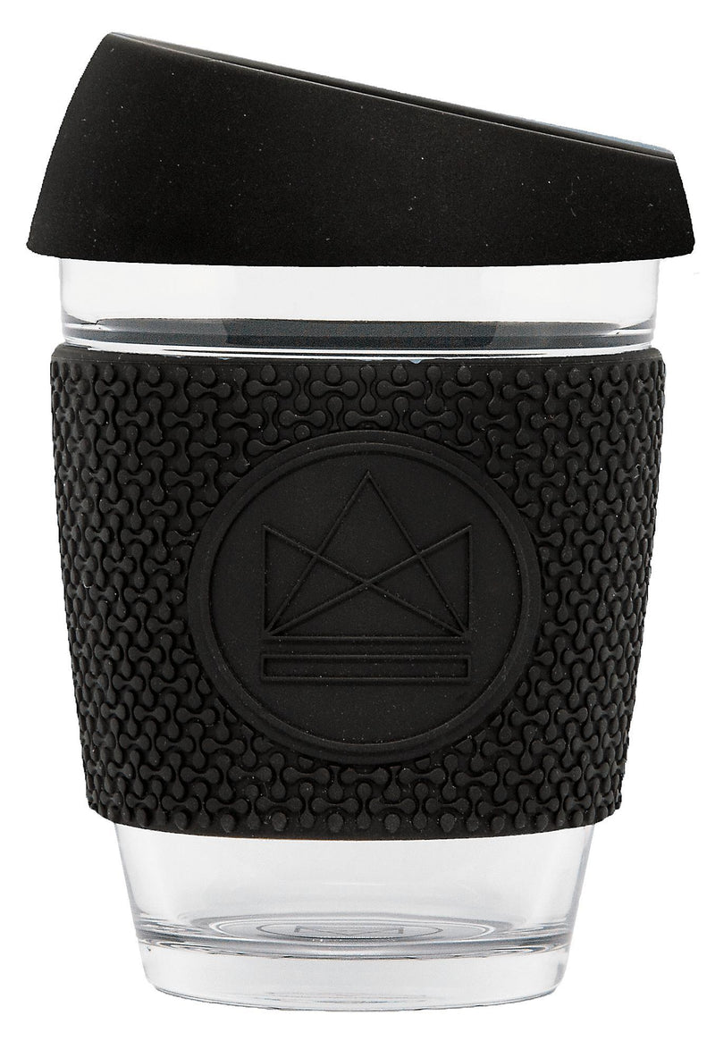Rock Star Black Grey Glass Coffee Cups-Glass Coffee Cups-Neon Kactus-MAMOQ