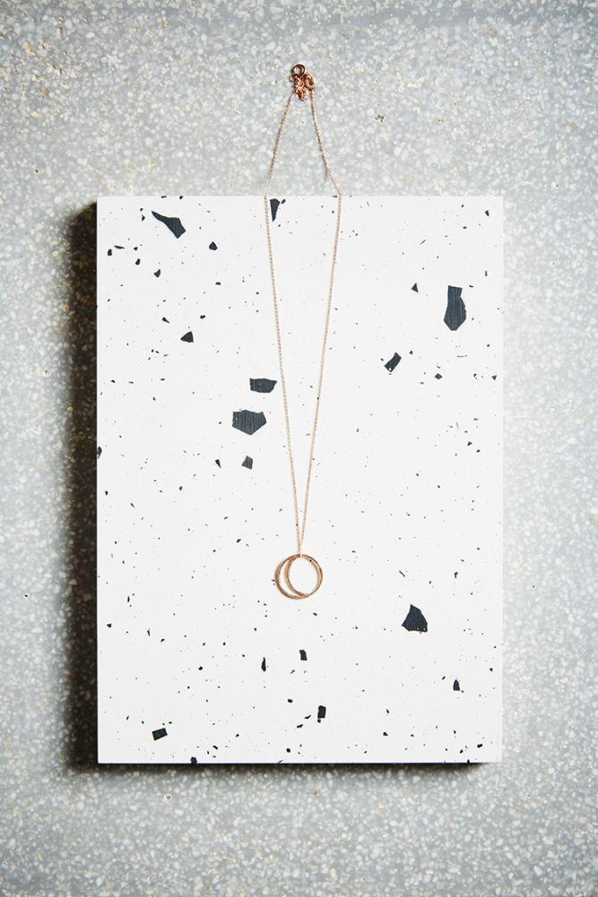 Rose Gold Crescent Lune Necklace-KIND Jewellery-MAMOQ