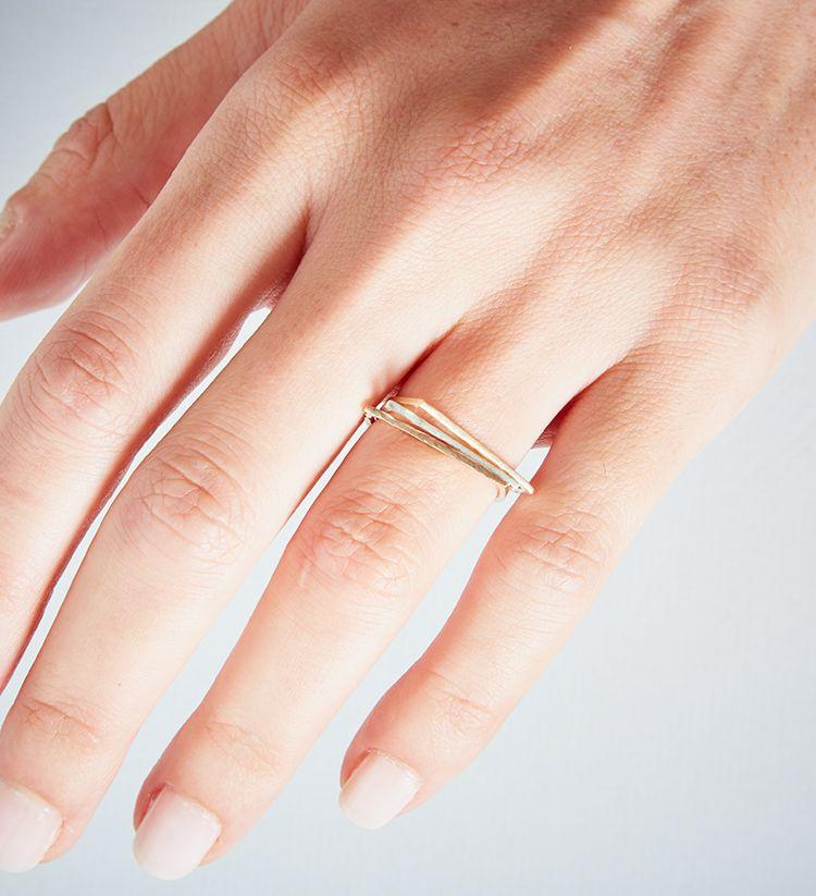 Rose Gold Demi Lune Ring-KIND Jewellery-MAMOQ