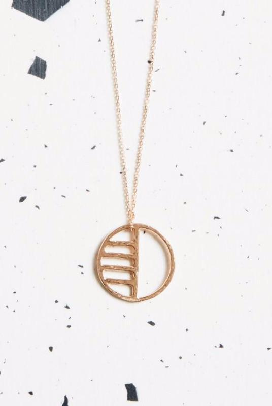 Rose Gold Eclipse Necklace-KIND Jewellery-MAMOQ