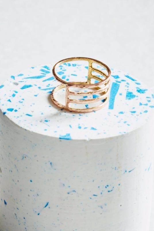 Rose Gold Eclipse Ring-KIND Jewellery-MAMOQ