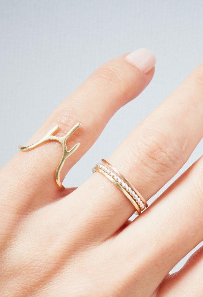 Rose Gold Temple Ring-KIND Jewellery-MAMOQ