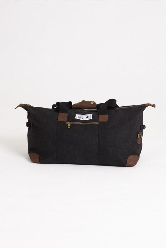 Rowan Black Waxed Canvas Duffel-Absolutely Bear-MAMOQ