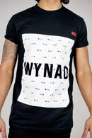 Safety Pin Black Organic Cotton Short Sleeve T-Shirt-Wynad-MAMOQ