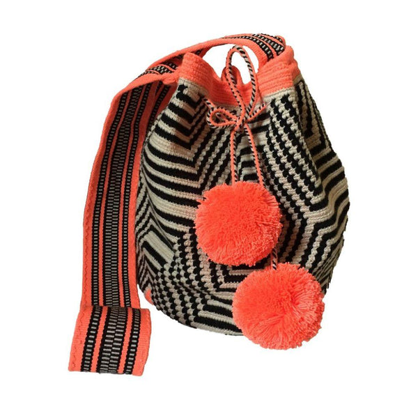 Samaná Orange Cotton Wayyu Mochila Bag-Untold Treasures-MAMOQ