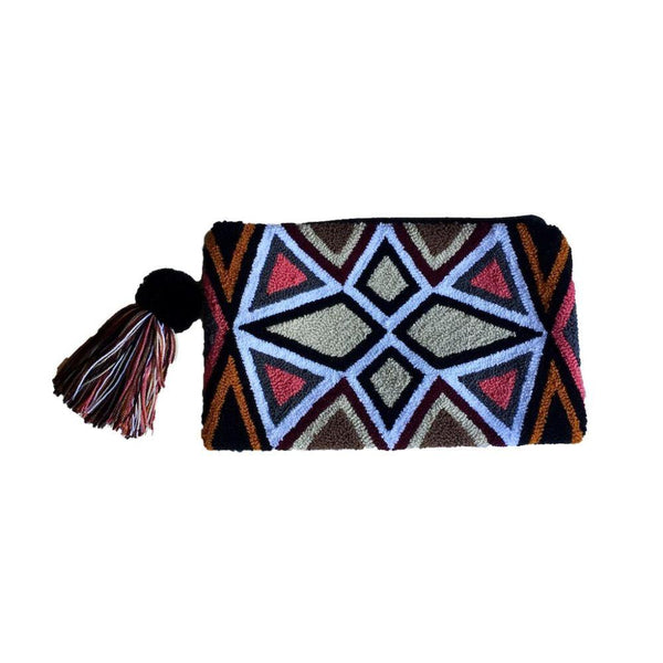 Sampues Patterned Cotton Wayuu Clutch Bag-Untold Treasures-MAMOQ