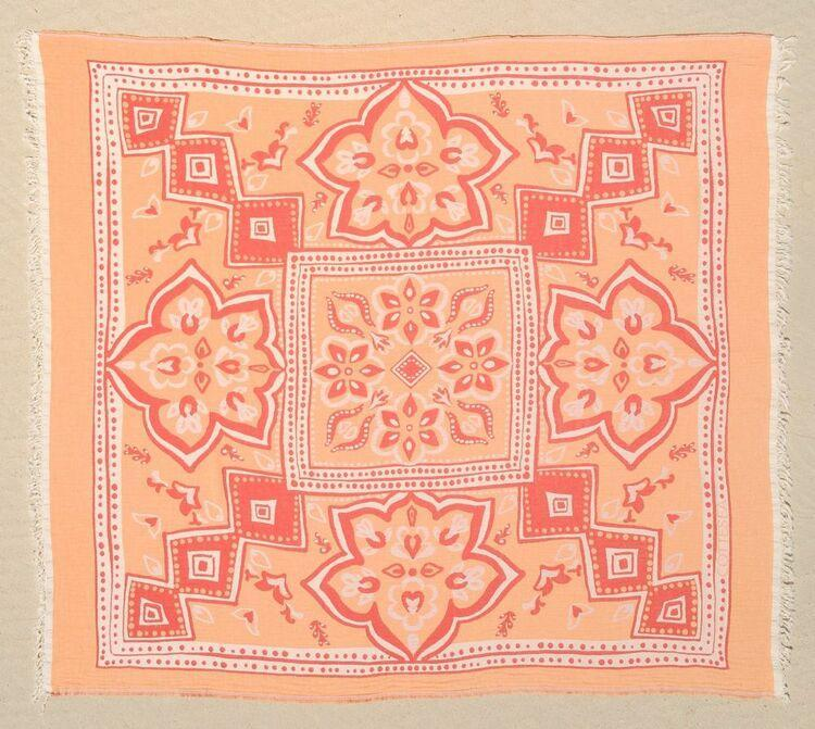 Sancy Orange Large Cotton Towel-COTTESEA-MAMOQ