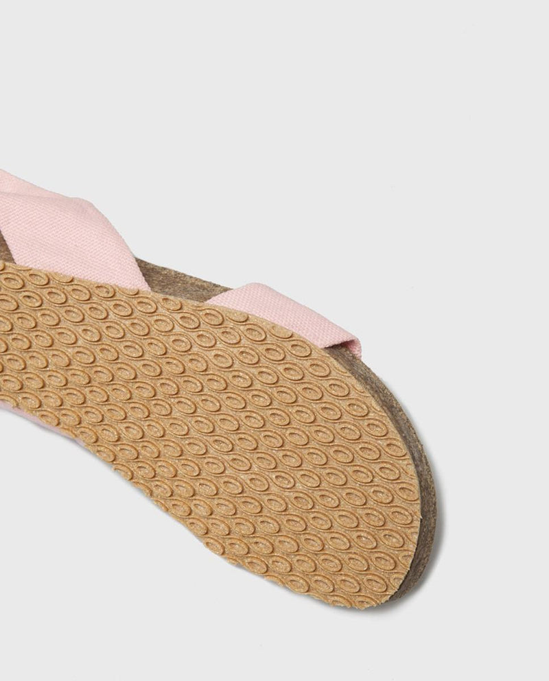 Sand Pink Cotton Sandals-Shoes-Momoc Shoes-MAMOQ