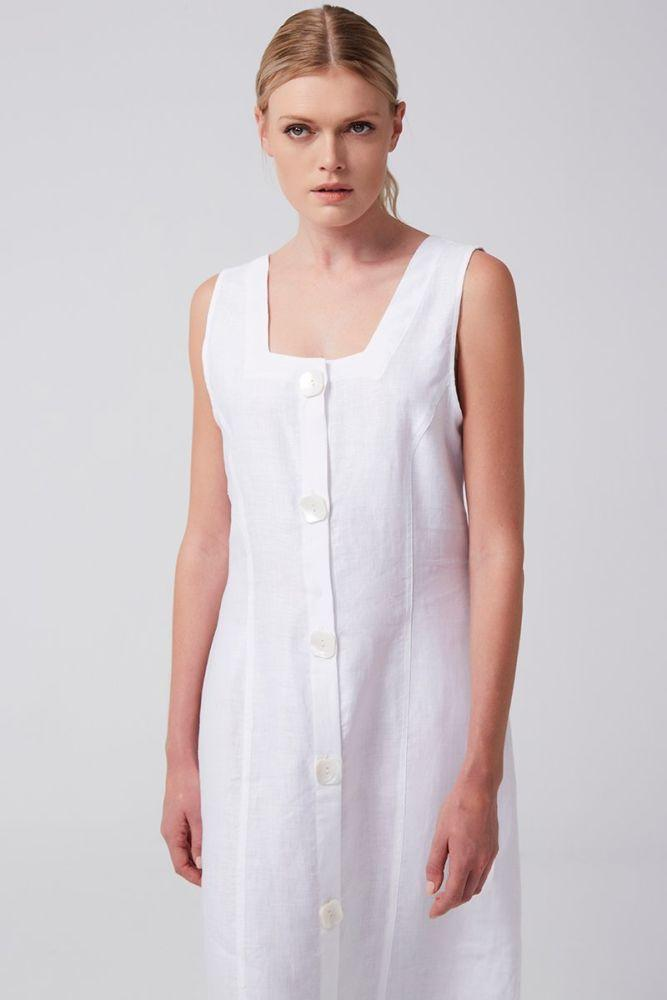 Savannah Linen Dress-Rakha-MAMOQ