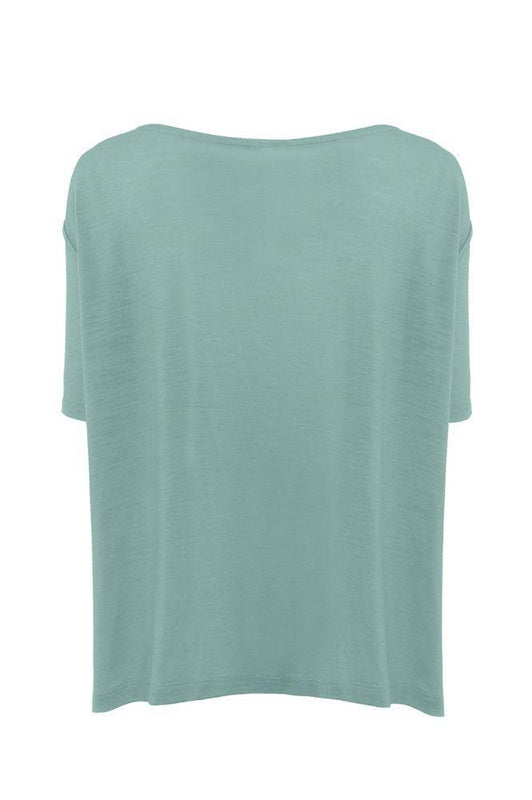 Sea Green A-Line Short Sleeve T-Shirt-Asmuss-MAMOQ