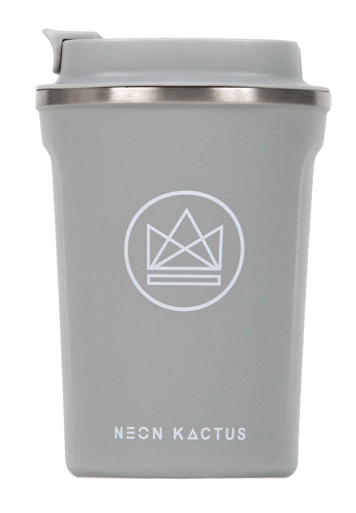Sea Shell Grey Insulated Coffee Cups-Insulated Coffee Cups-Neon Kactus-MAMOQ