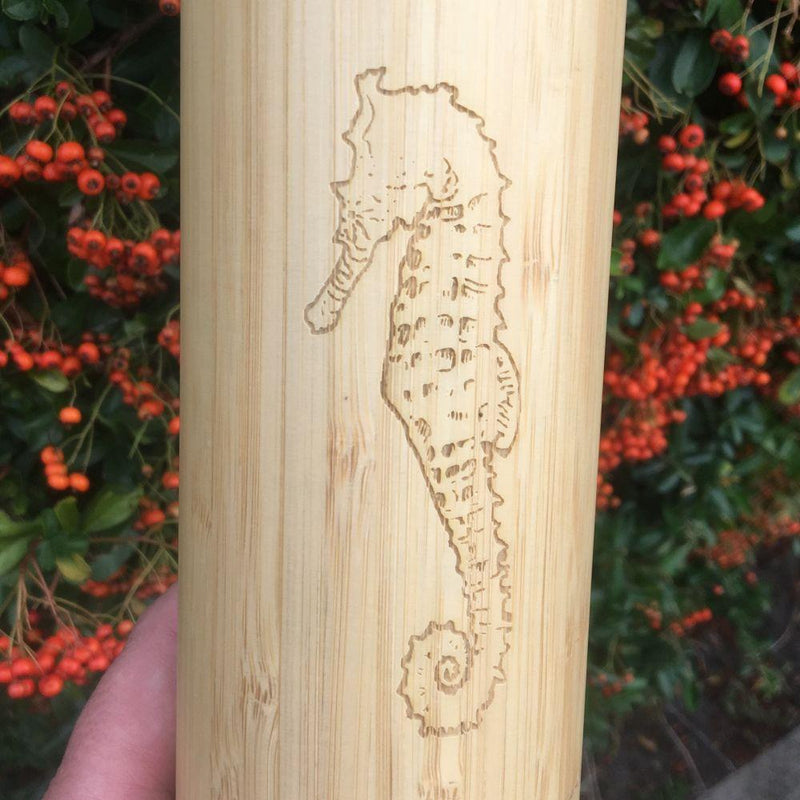 Seahorse Reusable Bamboo Water Bottle-WAKEcup-MAMOQ
