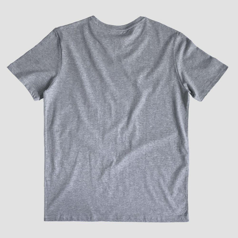 Short Sleeve Organic Cotton T-Shirt - Grey-Goose Studios-MAMOQ