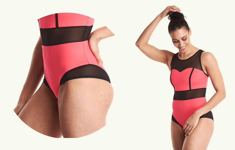Signature Swimsuit Coral - Hepburn-Deakin and Blue-MAMOQ