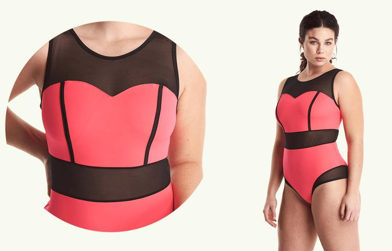 Signature Swimsuit Coral - Monroe-Deakin and Blue-MAMOQ