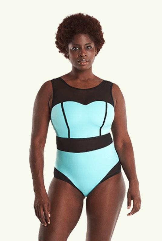Signature Swimsuit Mint Blue - Hendricks-Deakin and Blue-MAMOQ