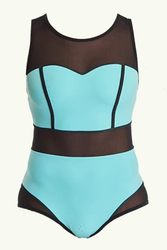 Signature Swimsuit Mint Blue - Hepburn-Deakin and Blue-MAMOQ