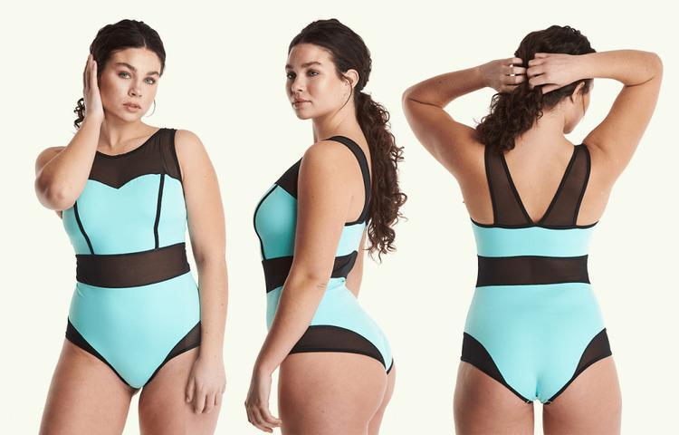 Signature Swimsuit Mint Blue - Monroe-Deakin and Blue-MAMOQ
