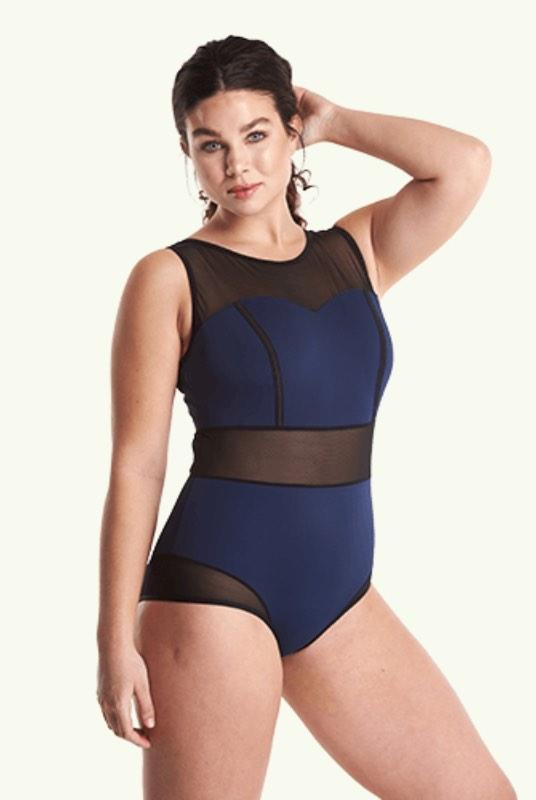 Signature Swimsuit Navy - Monroe-Deakin and Blue-MAMOQ