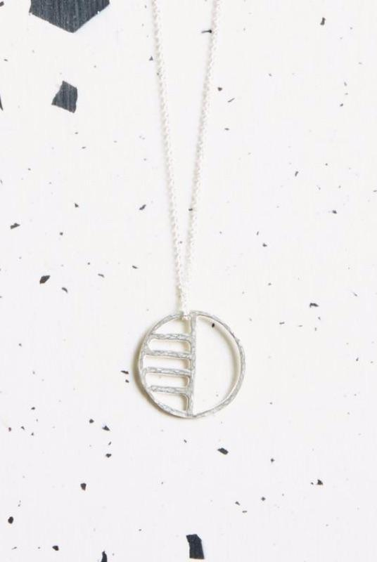 Silver Eclipse Necklace-KIND Jewellery-MAMOQ
