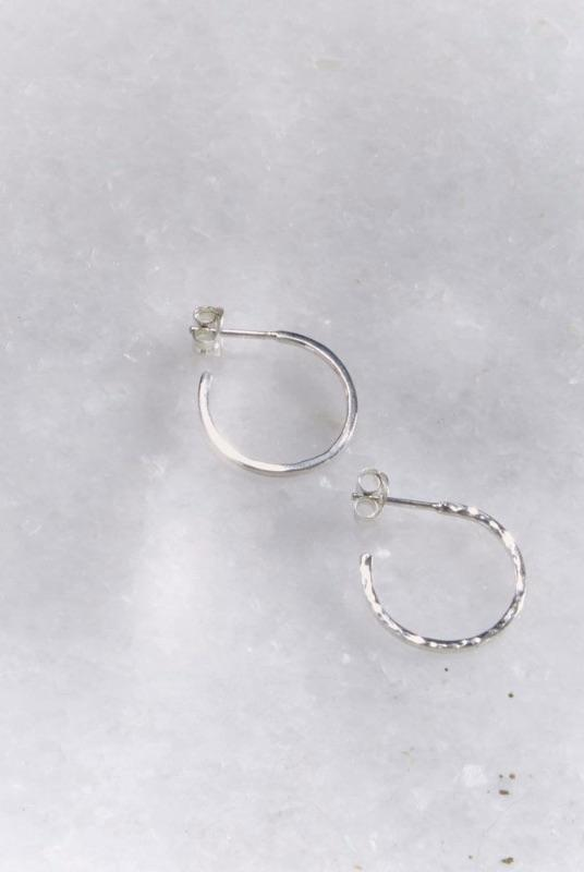 Silver Hidden Orbit Hoops-KIND Jewellery-MAMOQ