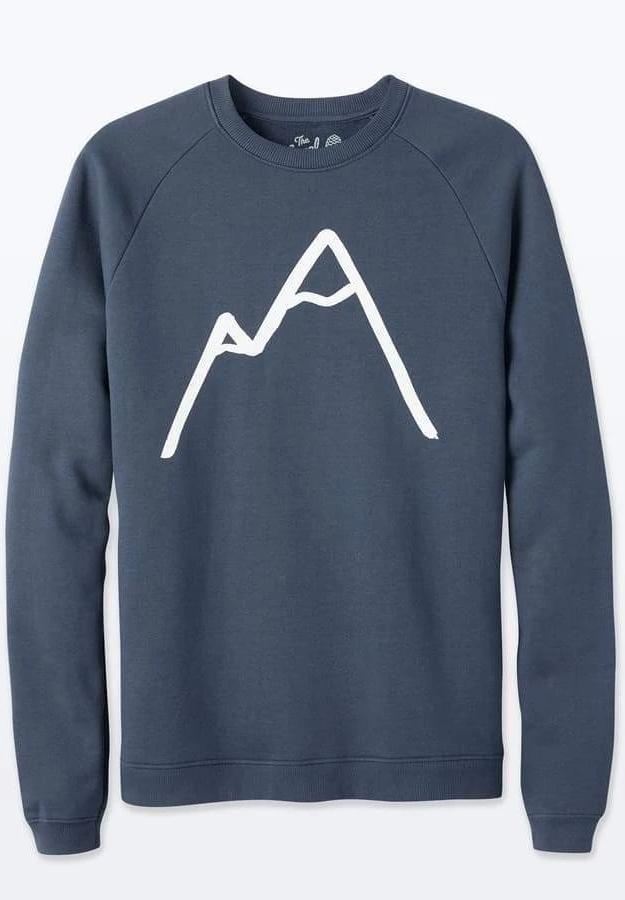 Simple Mountain Unisex Navy Organic Cotton Sweater-The Level Collective-MAMOQ