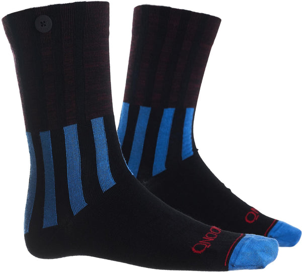Ski Jump Cycle Blue Organic Cotton Socks-Ski Jump-Qnoop-MAMOQ