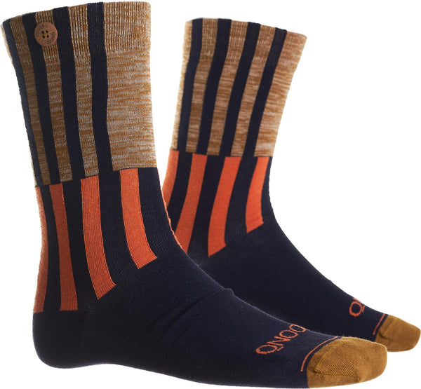 Ski Jump Navy Organic Cotton Socks-Ski Jump-Qnoop-MAMOQ