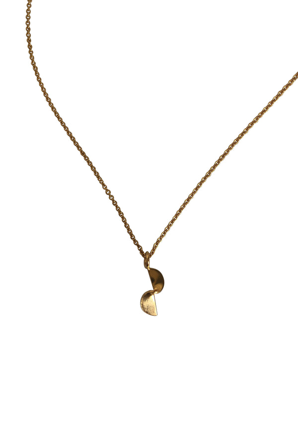 Small Fold Gold Plated Silver Necklace-Necklace-laoehlé-MAMOQ