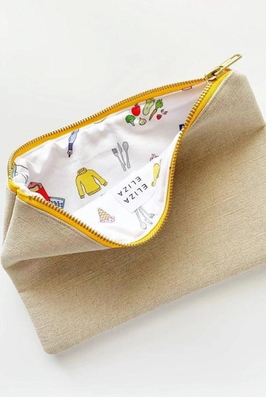 Small Steps Collection Cream Clutch Bag-Eliza Eliza-MAMOQ