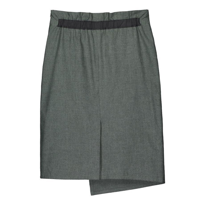 Soil Melange Alpine Green Skirt-Bottoms-TAUKO-MAMOQ
