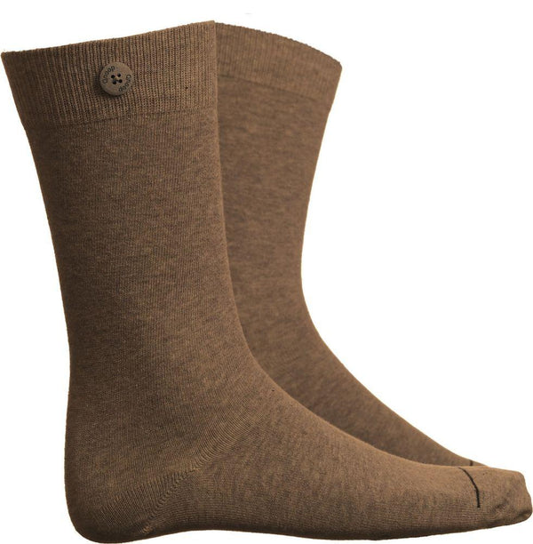 Solid Cognac Socks-Qnoop-MAMOQ