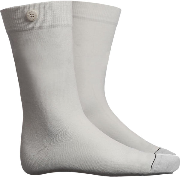 Solid White Organic Cotton Socks-Solid-Qnoop-MAMOQ