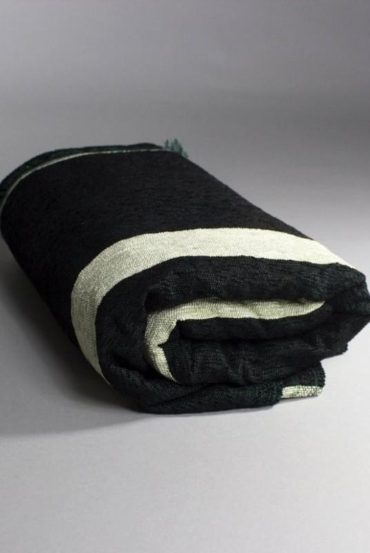 Soraya Dark Green Moroccan Throw-Harfi-MAMOQ