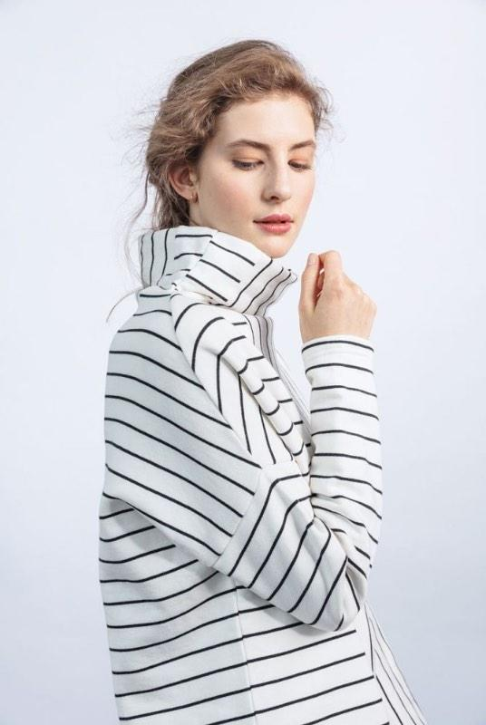 Stand Out Striped Organic Cotton Oversized Sweatshirt-ADVA-MAMOQ