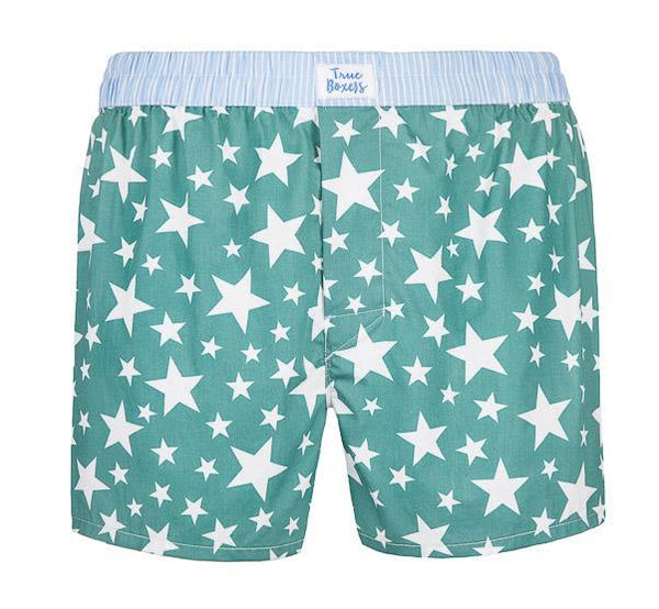 Starboy Green Cotton Boxers-True Boxers-MAMOQ